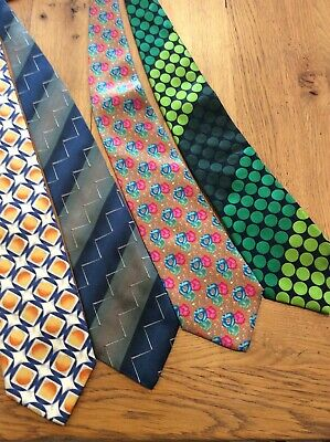 Selection Of 4 Silk Ties ( One Is Paul Smith )