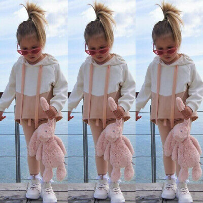 Toddler Baby Girl Winter Clothes Hooded Tops Long Pants Tracksuit Outfits Set UK