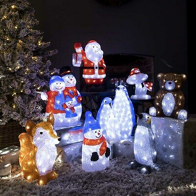 Christmas Light Acrylic Character LED Novelty Decoration Outdoor Indoor 5m Cable