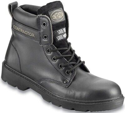 Black Leather Boot 12 802SM12 Contractor Genuine Top Quality Product New