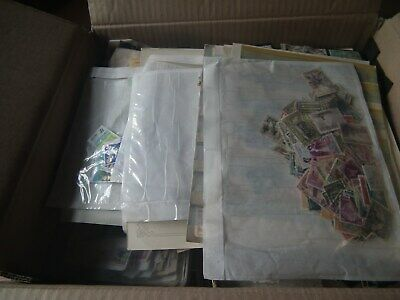 1.5 kg - World stamp collection - envelopes - tins - packets - pages - glory box