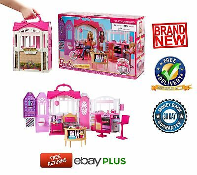 Barbie Dream Furniture Doll House Glam Getaway Playset Fully Furnished NEW