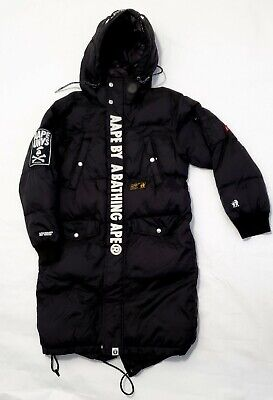 Bape Bathing Ape Long Puffer Jacket Coat Parka Auth Somewhere In The Universe Xs