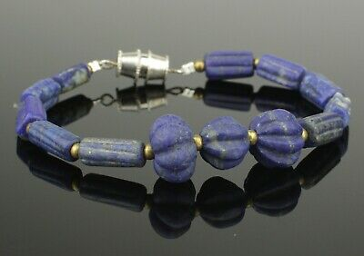 Ancient Egyptian Lapis Bead Bracelet - 1700Bc   (766)