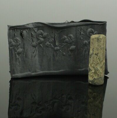 Ancient Near Eastern Hard Stone Cylinder Seal - Circa - 1200 - 950 Bc   (099)