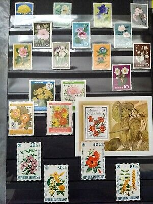 WORLDWIDE FLOWERS stamp collection MNH (20 countries) + FULL SETS +ALL DIFFERENT