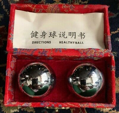 CHINESE FENGSHUI BAODING BALLS Health EXERCISE Hand Stress Relief THERAPY DESIGN