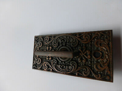 Vintage Antique Victorian Mechanical Twist Door Bell Key Ringer