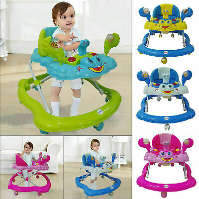 First Steps Push Along Bouncer Activity Music Ride On Car Melody Baby Walker