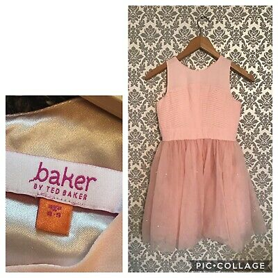 Girls TED BAKER 8-9 Years Baby Pink Stunning Party Dress
