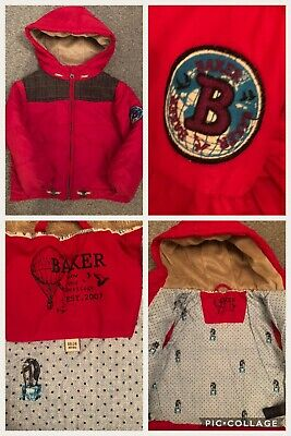 Boys Ted Baker 18-24 Months Red Winter Puffer Coat Immaculate Condition