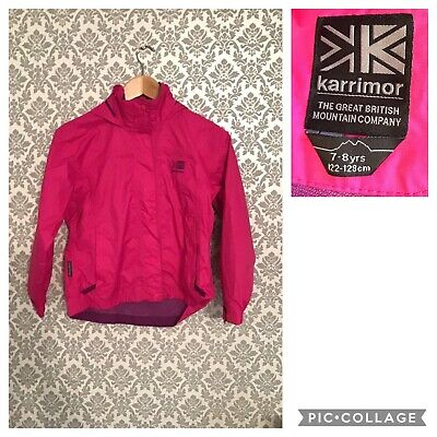 Girls KARRIMOR PINK 7-8 Years Rain Coat - Hiking Trekking Coat