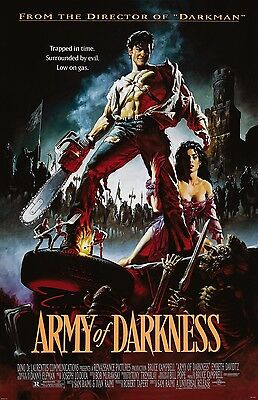 Army Of Darkness movie poster : Bruce Campbell poster, Evil Dead poster