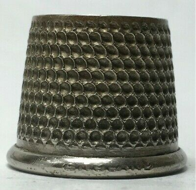 Very Large Tailors Nickel Thimble - Size 14 - England
