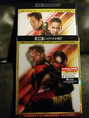 Marvel Ant-Man And The Wasp 4K Ultra Hd Blu Ray 2 Disc Rare Lenticular Slipcover