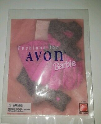 Barbie doll 1996 Avon Fashion Avenue clothes outfit party dress never opened