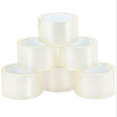 18 Rolls Clear Packing Packaging Carton Sealing Tape 2.0 Mil Thick  2 x 55 Yards