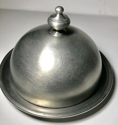 Vintage Pewter Butter Dish With Domed lid WEB 1180