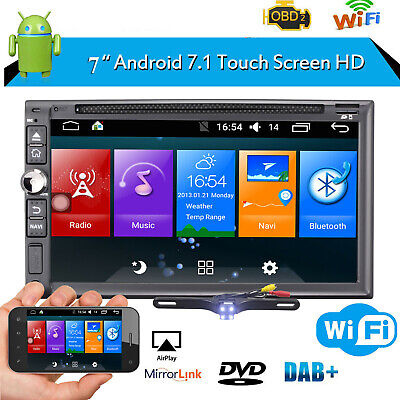 2 Din Android Car stereo GPS DVD Player Bluetooth WiFi AM/FM Radio Rear Camera