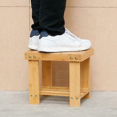 Strange Multfunctional Small Bamboo Step Stool Seat W Storage Shelf Theyellowbook Wood Chair Design Ideas Theyellowbookinfo