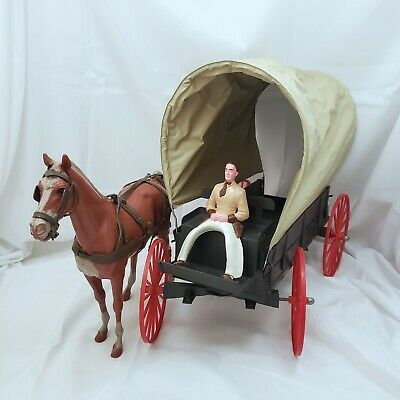 Louis Marx Best of the West Covered Wagon with Horse