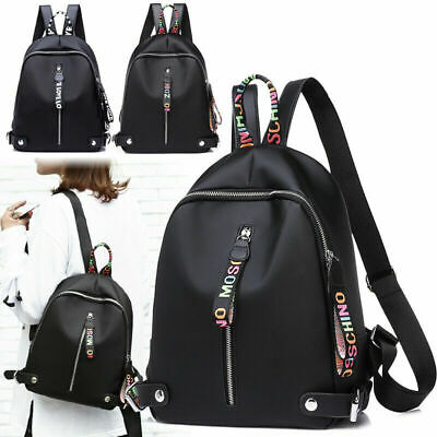 AU Women's Leather Backpack Anti-Theft Rucksack School Shoulder Bag