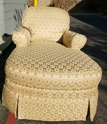 Ethan Allen Victoria Chaise Lounge Chair Upholstered #20-7595