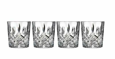 Double Old Fashioned Glasses Waterford Markham Scotch Whiskey Bourbon Set of 4