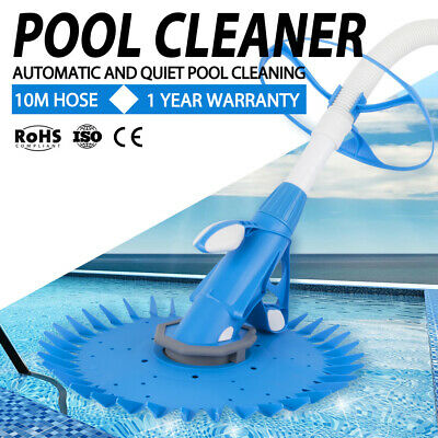 Suction Swimming Pool Cleaner Floor Climb Wall Automatic Vacuum 10M Hose