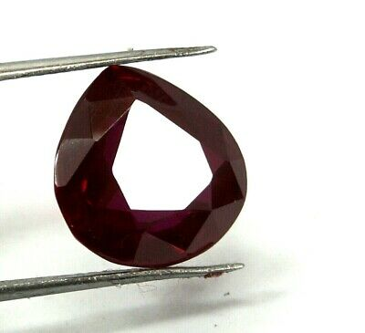 EGL Certified 9.45 Ct pear Shape Burma Mogok Natural Red Ruby Gemstone