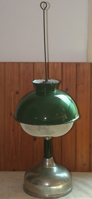 Coleman CQ Table Lamp + No 334 Green Shade and Insect Screens Rare Combination