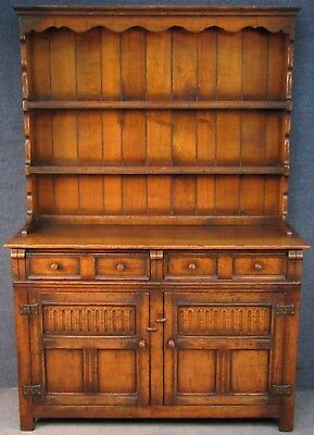 Titchmarsh And Goodwin Jacobean Style Solid Carved Oak Dresser