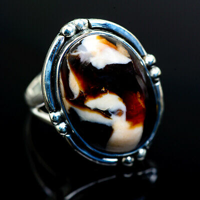 Large Peanut Wood Jasper 925 Sterling Silver Ring 8 Ana Co Jewelry R973034F