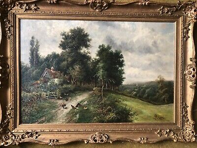 BOEL  / JAMIESON 19th Century Victorian Antique English Landscape - NO RESERVE