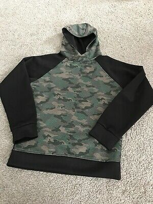 Boys 11-12 Urban Outlaw Camouflage And Black Hoodie Ex Condition