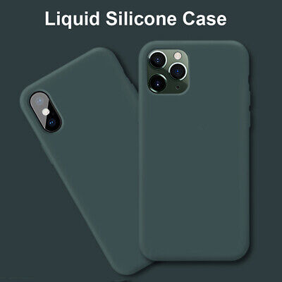Ultra Slim Liquid Silicone Phone Cover Case for iPhone 11 Pro Max X XR XS 6s 7 8