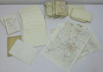 Vintage Collection of 31 OS Ordnance Survey Various Scales Cloth Paper Map Maps