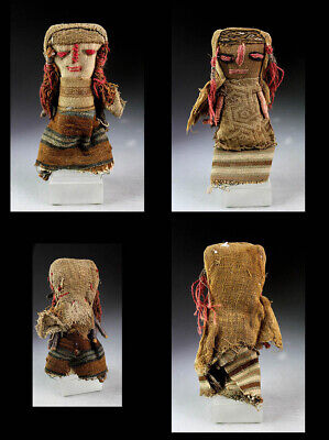 *SC*PAIR OF DOLLS MADE OF PRE COLUMBIAN CHANCAY TEXTILES, 10th.-14th. cent.!