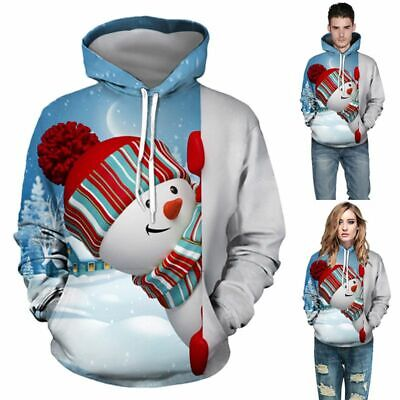 Mens Womens Christmas Funny Xmas Sweatshirt Hoodie Sweater Jumper Pullover Coats