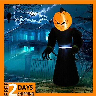 Halloween Airblown Inflatable Pumpkin Reaper Ghost Led Lights Outdoor Decoration