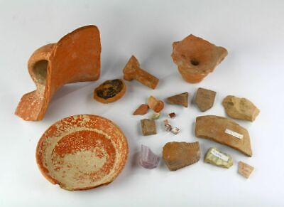 *Sc*Attractive Lot Of Ancient Roman & Greek Pottery & Glass!!