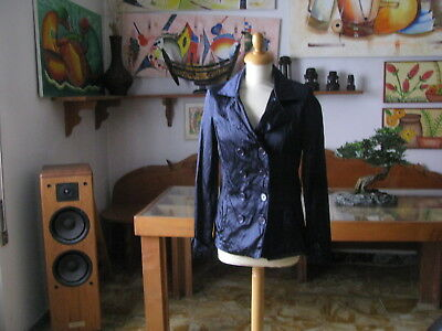 Jacket Long Woman Stretch, Blue, Size M - Made in Italy