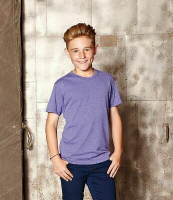 Russell Kids HD T-Shirt NECK COLOURS TOP TEE SLIM SIZES PLAIN FIT CREW