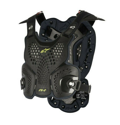 Alpinestars A1 Chest Roost Armour For Neck Braces Black Adults XLarge XXLarge