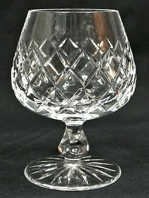 "Ceska Crystal Canterbury Flared Stem 4-3/4"" Brandy Glass Snifter A Shape Czech"