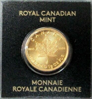 2019 Gold Canada 1 Gram 999.9 Gold 50 Cent Maple Leaf Royal Canadian Mint Coin