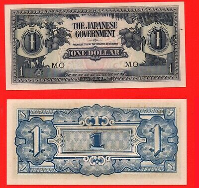 WWII Japanese occupation currency 1 dollar banknote