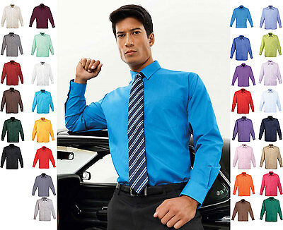 Mens Long Sleeve Shirt - Smart Casual Business Work Office Formal Wear