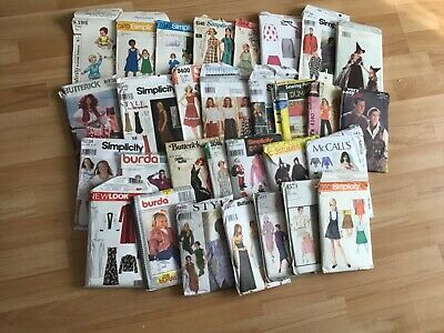 Job Lot Of 50 Sewing Patterns Unchecked Various Styles