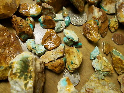 royston high grade natural turquoise, good rough very nice from royston mine6lb